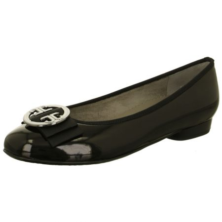 Jenny Ara Pisa Black Patent Flat Shoes