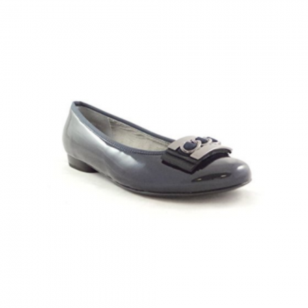 Jenny Ara Pisa Navy Patent Flat Shoes