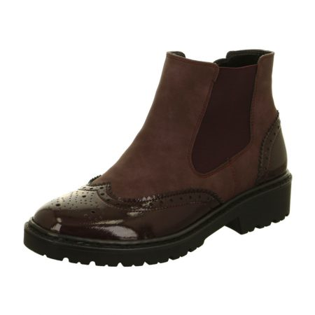 Jenny Ara Portland Burgundy Brogue Ankle Boots
