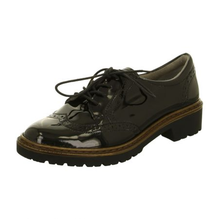 Jenny Ara Portland Black Patent Brogue Shoes