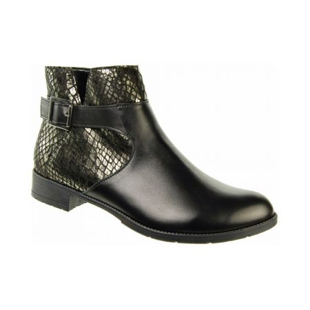 Alpina Rafaela Black Leather Ankle Boots