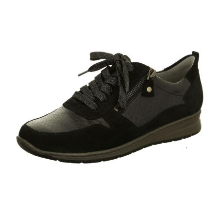 Jenny Ara Sapporo Dark Grey Laced Trainer Shoes