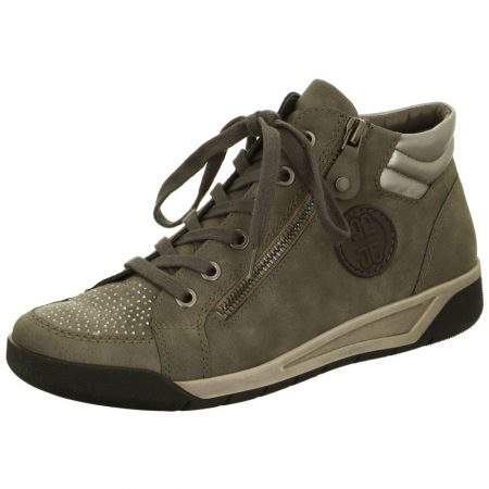 Jenny Ara Seattle Grey High Top Trainer Shoes