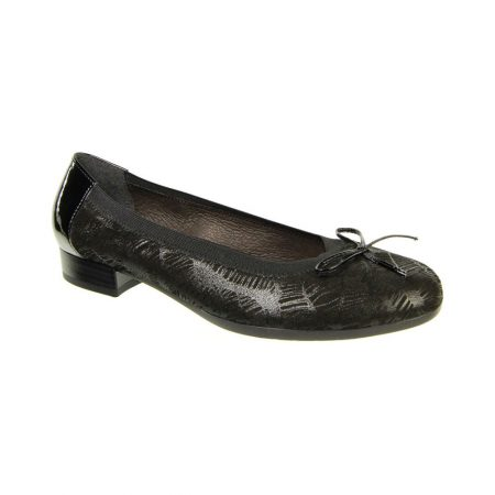 Alpina Trinity Black Leather Flat Shoes