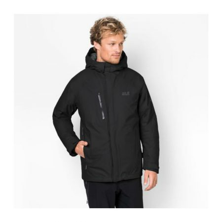 Jack Wolfskin Troposphere Black Waterproof Jacket