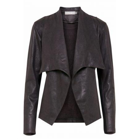 Fransa Suede Look Casual Black Jacket