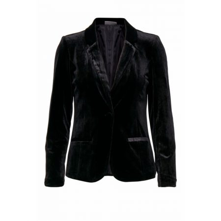 Fransa Black Faux Suede Evening Blazer