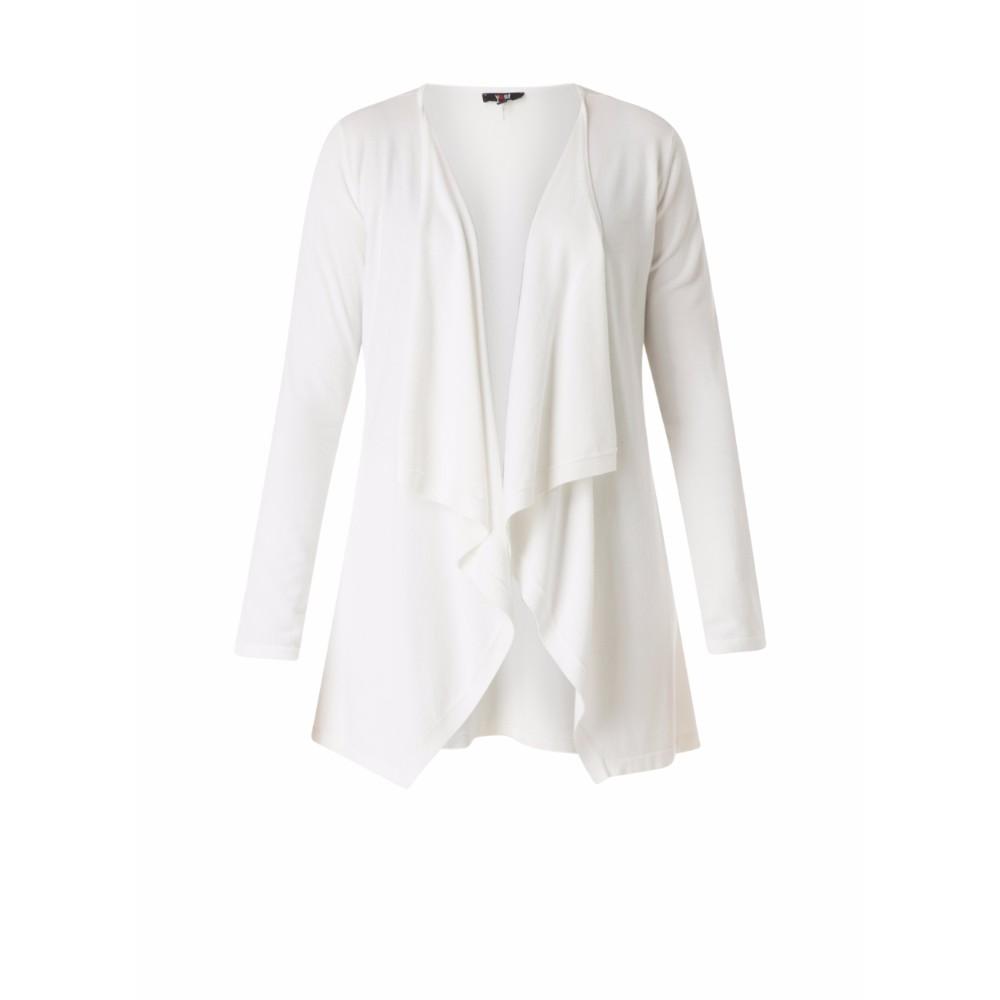 Yest Cream Waterfall Cardigan Knitwear - Brooks Shops