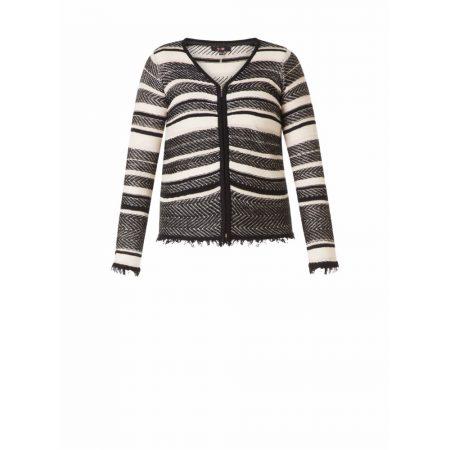Yest Black Multi Tone Striped Jacket