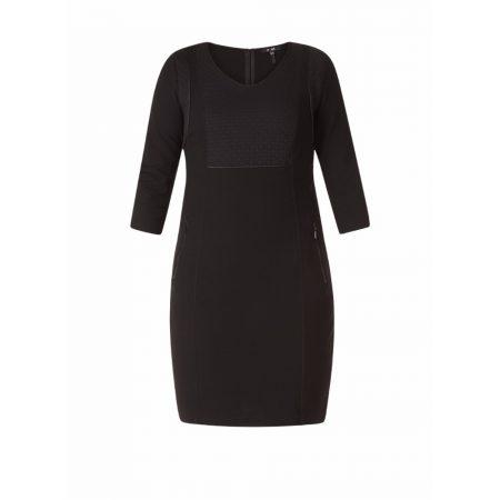 Yest Black Knee Length Casual Dress
