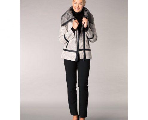 Yest Grey Multi Faux Sheepskin Jacket