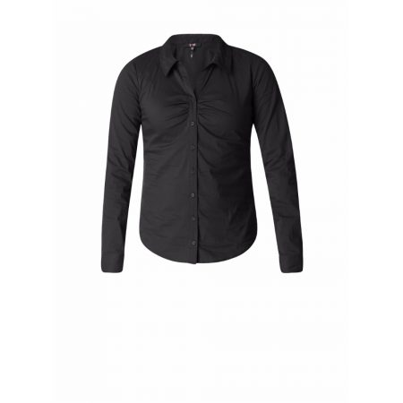Yest Fitted Buttoned Blouse Black