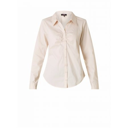 Yest Fitted Buttoned Blouse Oyster