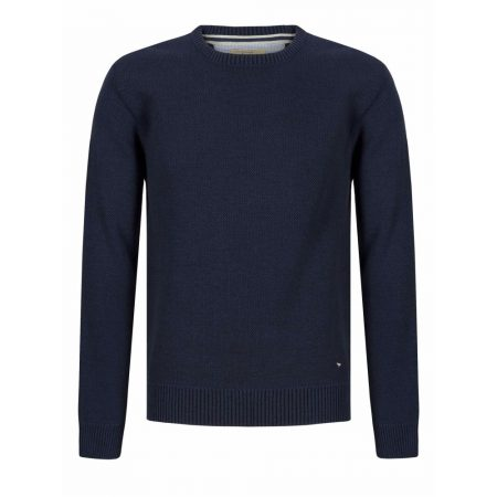 Drifter Blue Crew Neck Knitwear Jumper