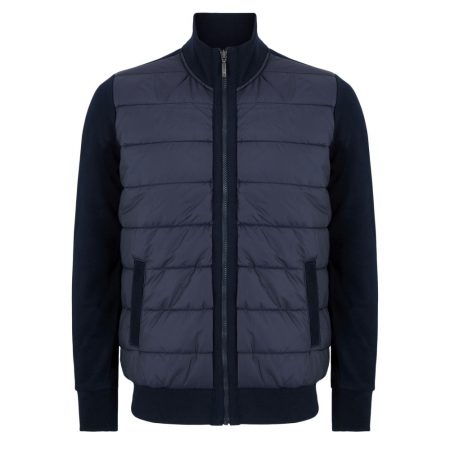 Douglas full zip navy quilted sweatshirt