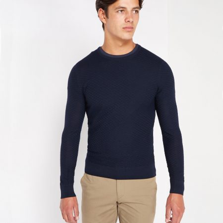 Remus Uomo slim fit merino mix jumper 58283/78