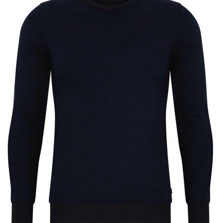Remus Uomo blue fine knit merino wool mix 58291/26
