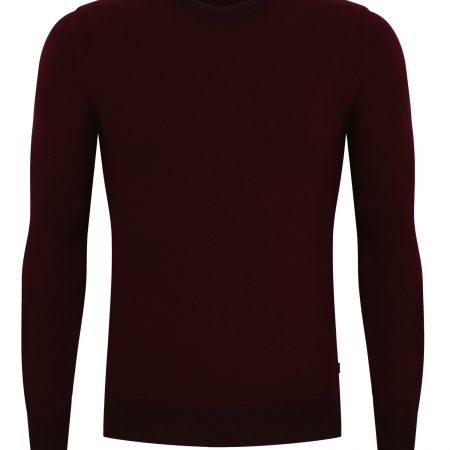Remus Uomo burgundy slim fit merino wool mix 58291/68