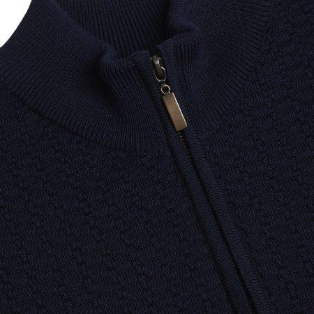 Remus Uomo navy full zip sweater 58300/78