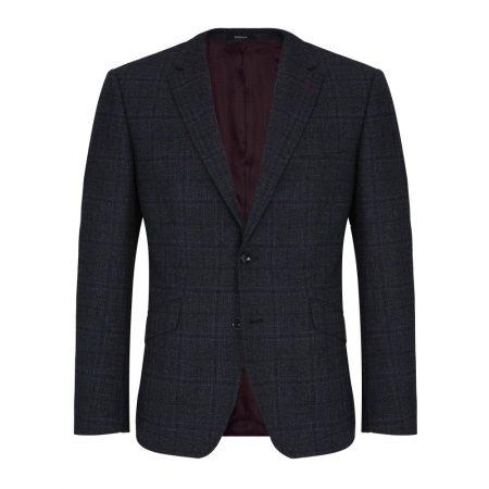 Douglas Navy Check Wool Dress Jacket