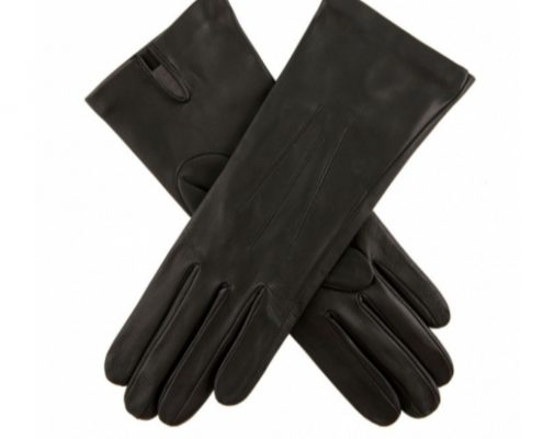 Dents Felicity Silk Lined Black Leather Gloves