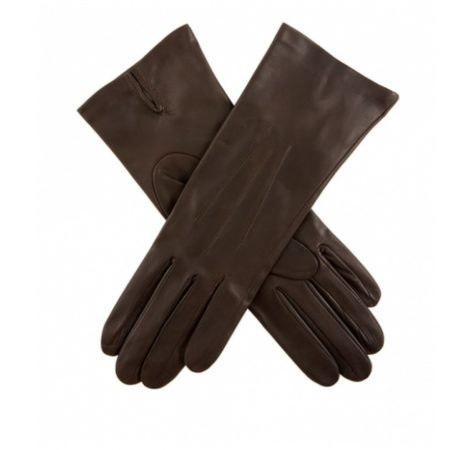 Dents Felicity Silk Lined Brown Leather Gloves