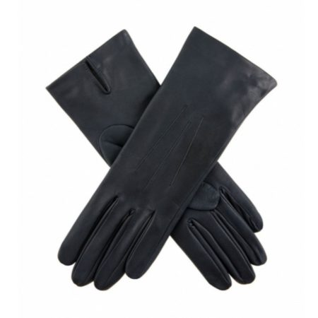 Dents Felicity Silk Lined Navy Leather Gloves