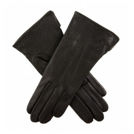 Dents Jessica Black Classic Leather Gloves