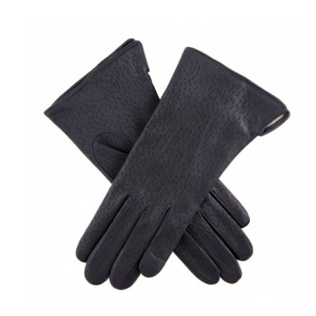 Dents Jessica Navy Classic Leather Gloves