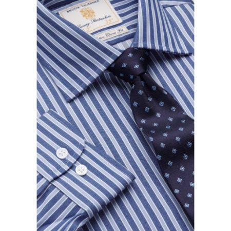 Brook Taverner Navy Stripe Long Sleeve Shirt