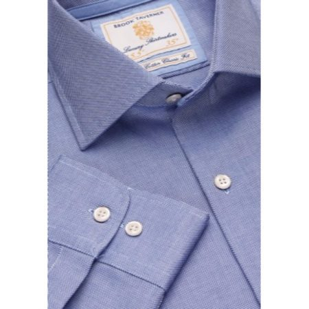 Brook Taverner Blue Patterned Long Sleeve Shirt