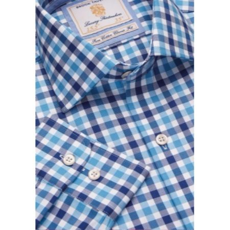 Brook Taverner Blue Check Long Sleeve Shirt