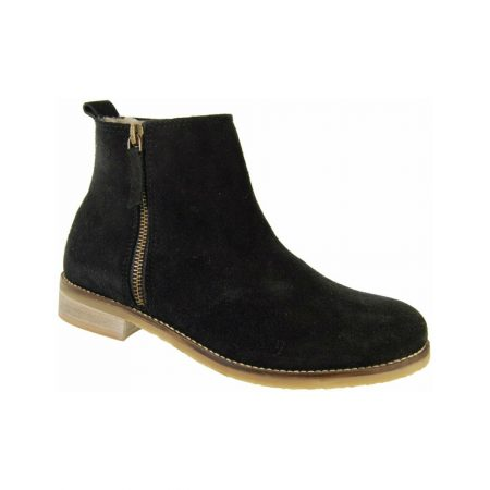 Adesso Jen Black Suede Ankle Boots
