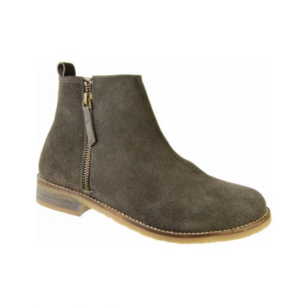 Adesso Jen Dark Grey Suede Ankle Boots