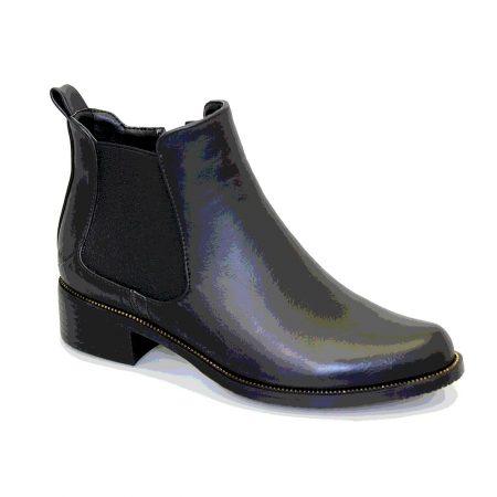 Lunar Bowey Black Patent Chelsea Boots