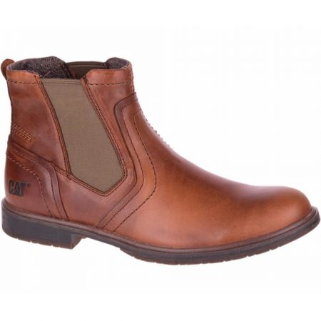 CAT Armitage Brown Leather Chelsea Boots