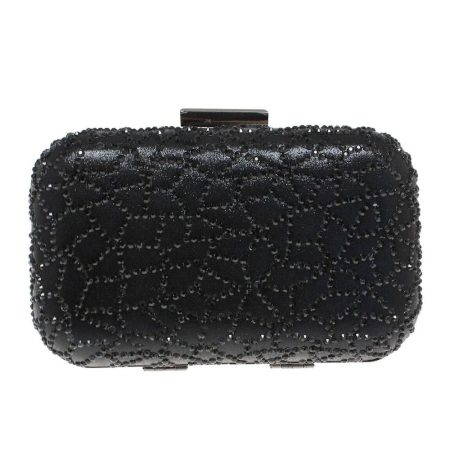 Lunar Caroline Black Clutch Evening Bag