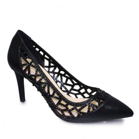 Lunar Caroline Black Heeled Dress Shoes
