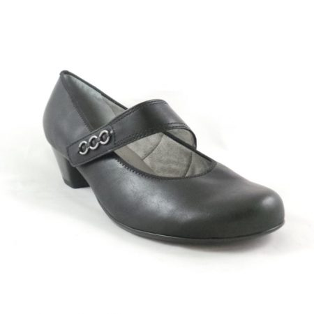 Jenny Ara Catania Black Low Court Shoes
