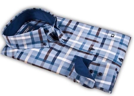 Giordano blue check shirt
