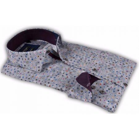Giordano Grey Multi Print Tapered Shirt