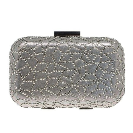 Lunar Lyra Pewter Clutch Evening Bag