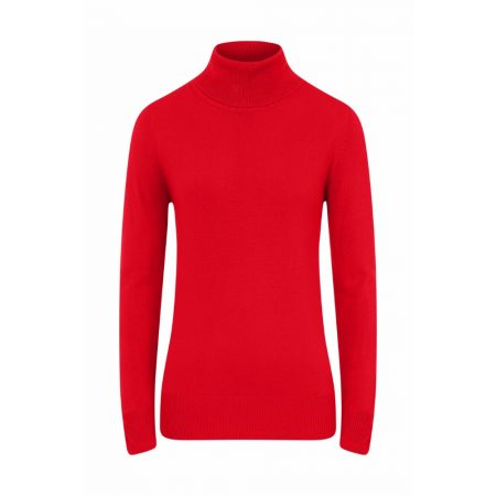 Emreco Maple Polo Neck Knitwear Red