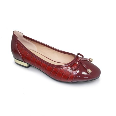 Lunar Palmer Burgundy Flat Shoes