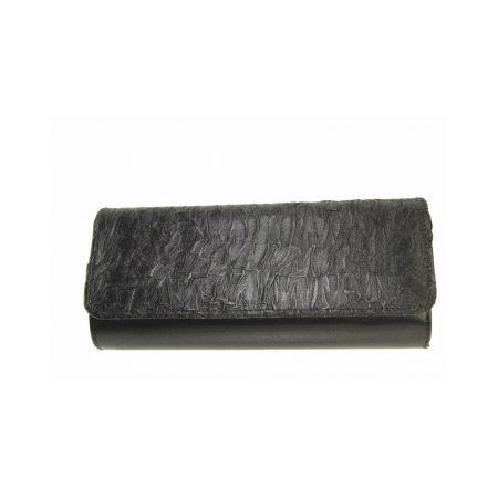Capollini Raine Black Satin Evening Bag