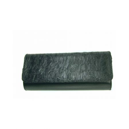 Capollini Raine Pewter Satin Evening Bag