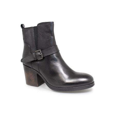 Lunar Ali Black Leather Ankle Boots