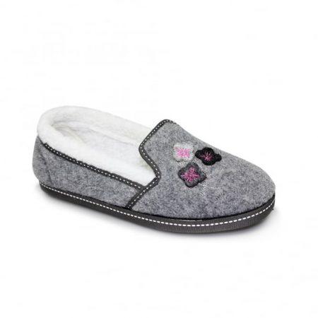 Lunar Bellona Grey Comfort Full Slippers