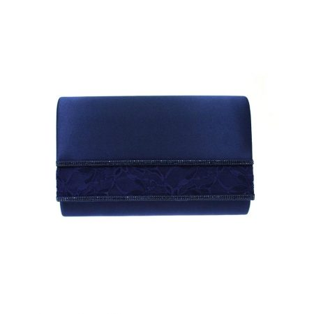 Lunar Casely Navy Satin Evening Bag