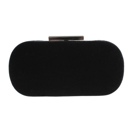 Lunar Celeste Black Velvet Evening Bag